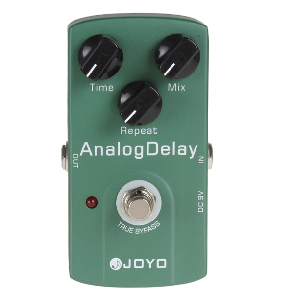 JOYO Professional DC 9V True Bypass Analog Delay Guitar Effect Pedal aroma adr 3 dumbler amp simulator guitar effect pedal mini single pedals with true bypass aluminium alloy guitar accessories
