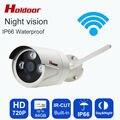 Onvif Ip-камера WI-FI Мегапиксельная 720 P HD Водонепроницаемый IP66 Беспроводной Безопасности CCTV Камеры Ик Слот Для Карты SD P2P Пуля Kamera