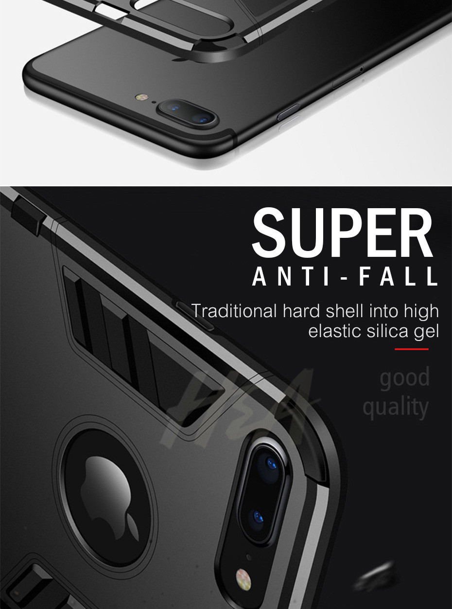 Shockproof Armor Phone Case For iPhone Plus TPU + PC Protective Case 6