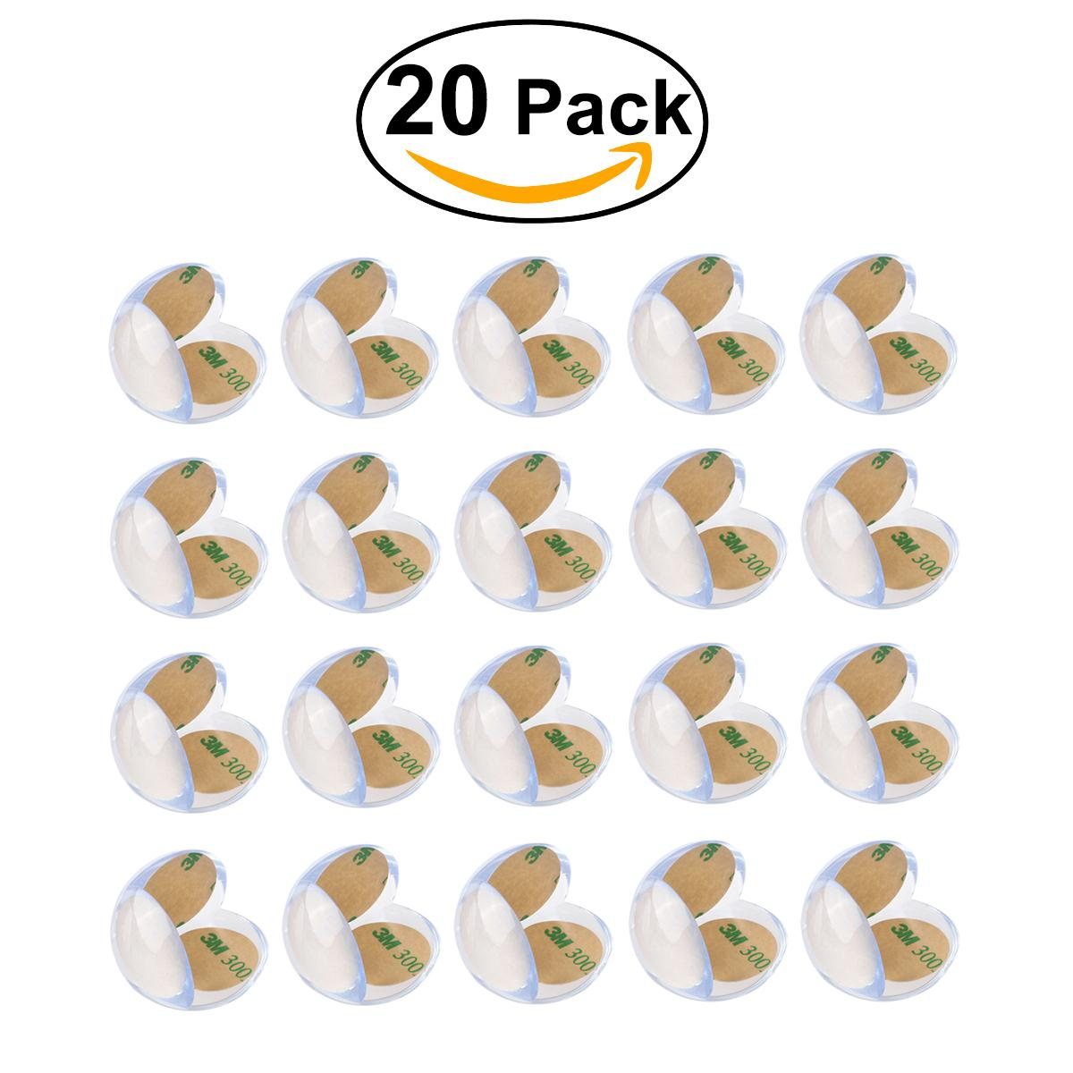 20pcs Baby Child Kids Safety Soft Silicone Ball Shape Table Corner  Anti Collision Cushions Guards