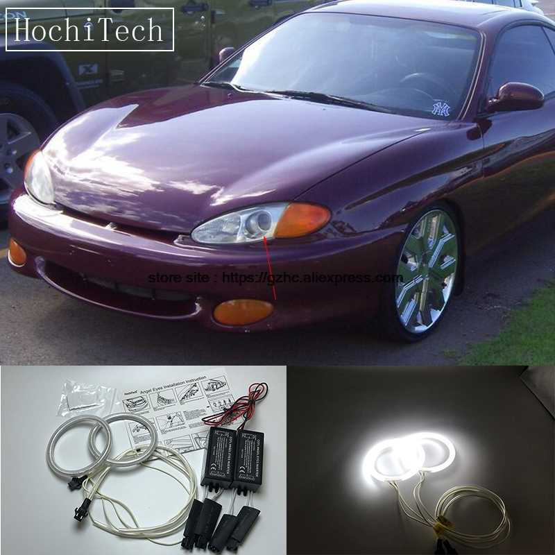 Hochitech For Hyundai Tiburon Coupe Rd1 J2 F2 Ultra Bright Day Light Drl Ccfl Angel Eyes
