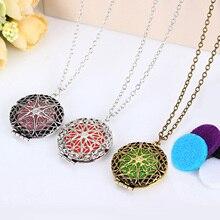 Aromatherapy Locket Necklace with Madala Flower Shaped Pendant