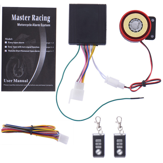 Motorcycle Motorbike Anti-theft Security Alarm System Remote Control Engine Start DC12V Guard Against Theft