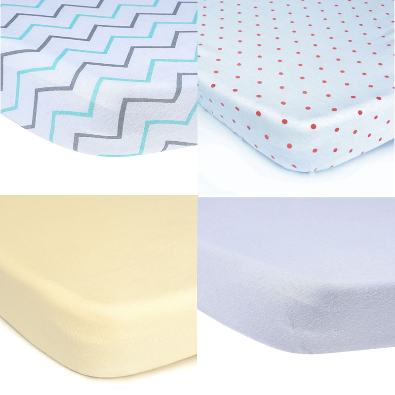 EGMAO BABY Cotton Fitted Toddler Girl or Boy Bedding Set 100% Organic Crib Sheet for Standard Crib and Toddler Mattresses