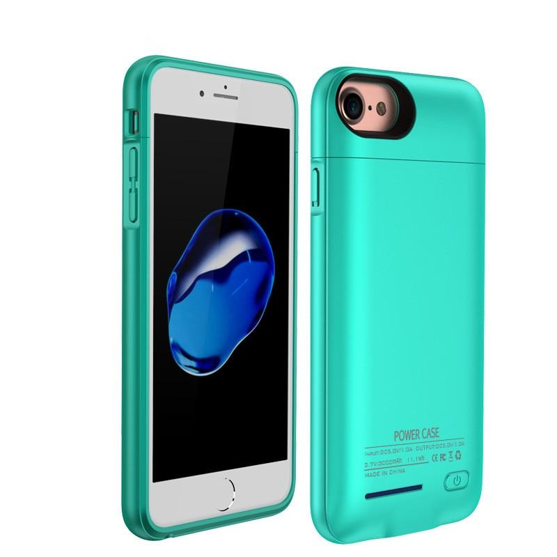 bilder für 3000/4200 mAh Externes Ladegerät Fall Für iPhone 7 Plus Ultra dünne Bewegliche Bank Für iPhone 6 Plus 6 S Plus