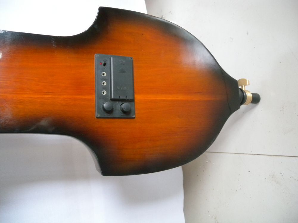 black 3/4 4 & 5 string  electric double bass noblest great Solid wood fine sound 1# handmade new solid maple wood brown acoustic violin violino 4 4 electric violin case bow included