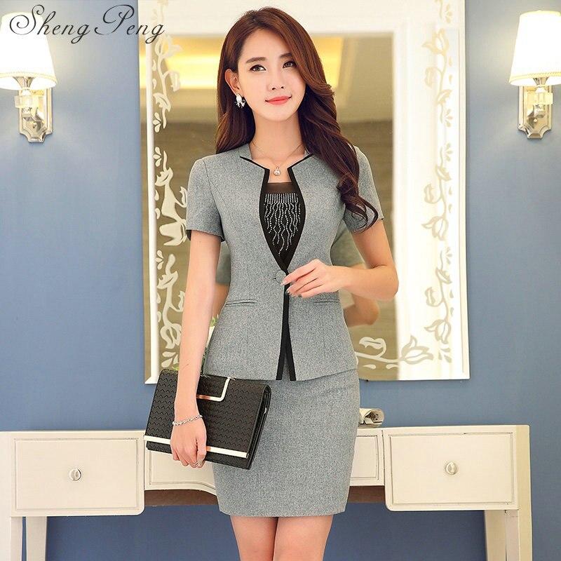 Conceptions uniformes de bureau femmes élégantes jupe costumes jupe costumes pour femmes d'affaires femmes costumes avec jupe uniforme bureau CC062