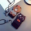 Caso de moda de lujo caliente para iphone 6 6 plus 6 s 6 splus con oso de dibujos animados del gato accesorios de diseño de moda tpu cajas del teléfono móvil