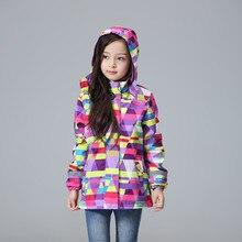Waterproof Windproof Children Outerwear Baby Girls Jackets Children Kids Coat Warm Polar Fleece For 3-12T Winter Autumn Spring
