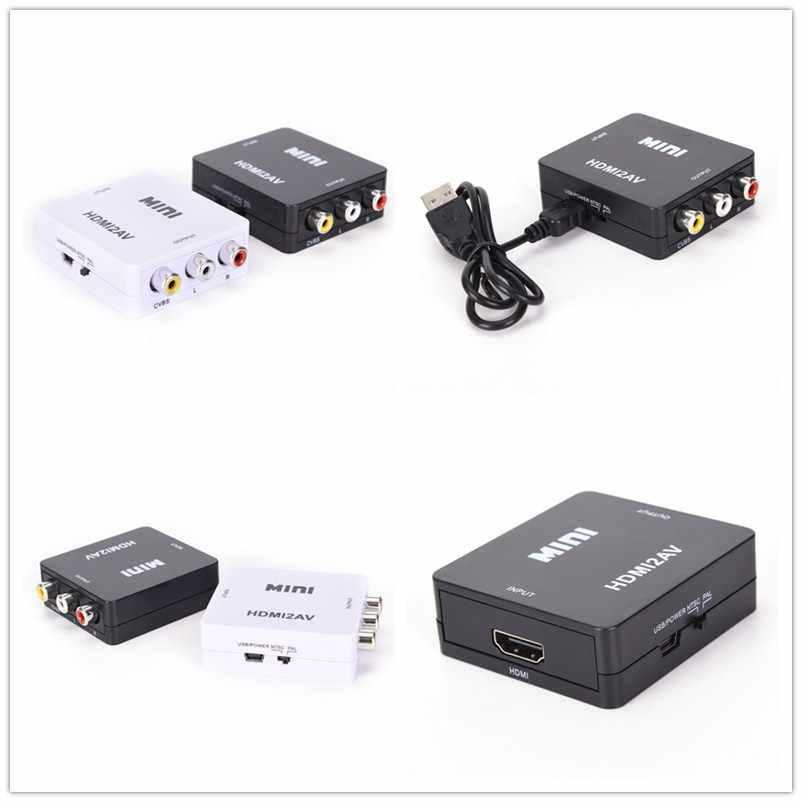 JETTING 1 PC HDMI Naar RCA AV/CVBS Adapter HD 1080 P Mini HDMI2AV Video Converter met USB Power kabel