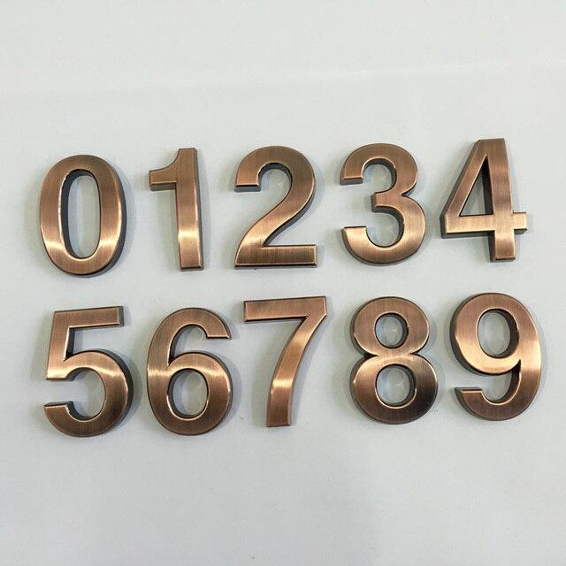 Numeri Civici In Plastica.Nuovo 1 Pz 0 9 Numeri Civici In Plastica 70 48 8mm Hotel Casa Porta