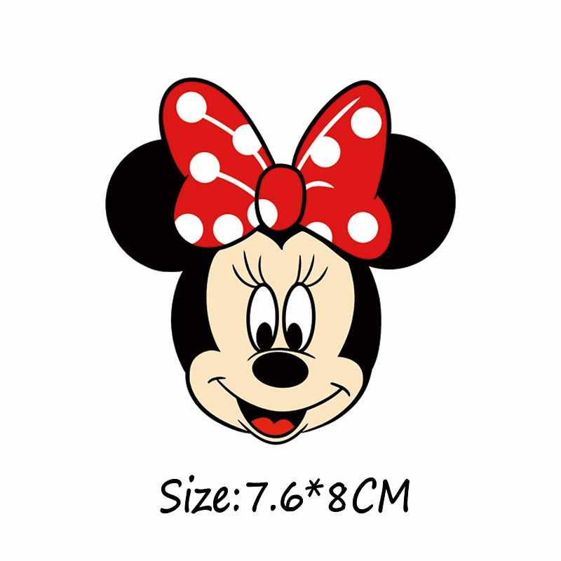 Cartoon Minnie Cartoon mickey patches voor kleding DIY T-shirt voor familie Grade-a Thermische transfer stickers meisjes decor