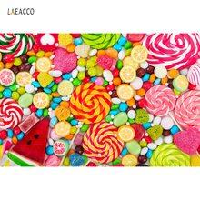 Laeacco Lollipops Colorful Candy Bar Dessert Party Pattern Celebration Portrait Photography Backdrops Backgrounds Photo Studio