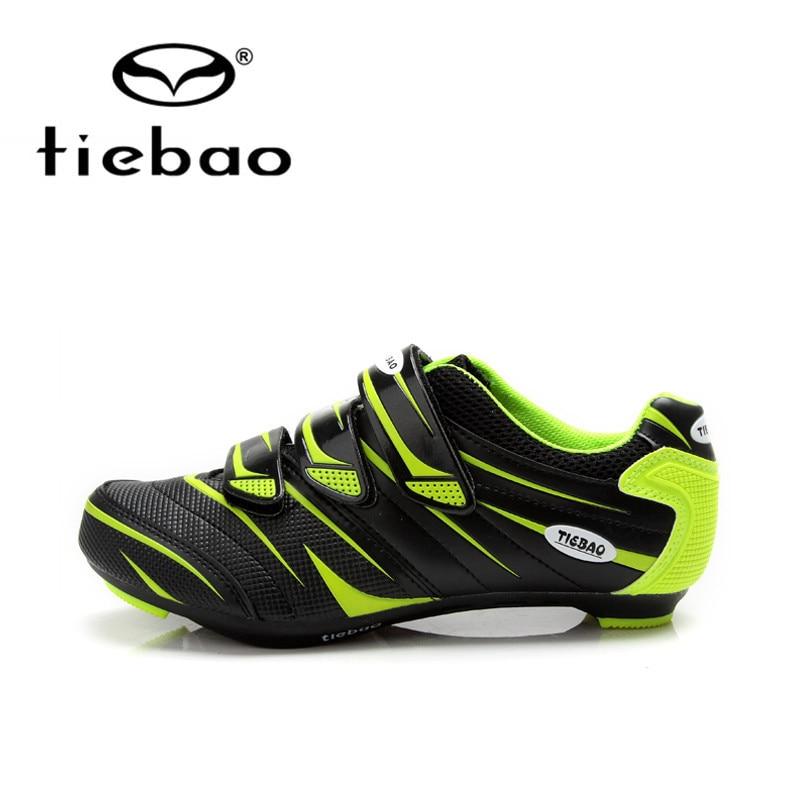 Цена за Tiebao профессиональные велосипедов велоспорт обувь мужчины женщины дорожный велосипед с автоблокировкой обувь дышащий нейлон стекловолокно спортивная обувь
