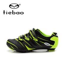 Tiebao Professional Bicycle Cycling Shoes Men Women Road Bike Self-Locking Shoes Breathable Nylon-Fibreglass Sport Shoes