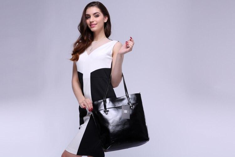 bolsa sólida ombro grande bolsa Women Bag Estilo : Fashion Bag, Casual Bag