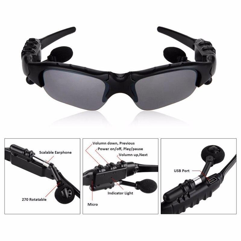 Bežični bluetooth sunglasses slušalice slušalice s mikrofonom - Prijenosni audio i video - Foto 2