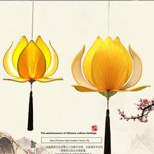 Modern E27 led bulb Lotus Shape Chandelier Pendant Ceiling Lamp Shade Hanging Light Lampshade DIY Home Living Room Bedroom Decor