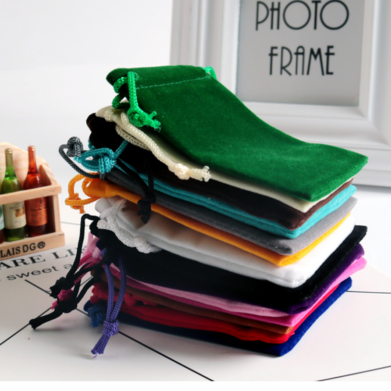 10pcs/lot Small Velvet Bag 5x7 7x9 9x12cm Charms Earrings Jewelry Packaging Bags Wedding Decoration Velvet Pouch Gift Bags