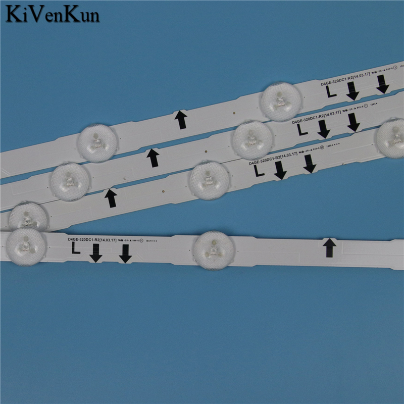 7 Lamps LED Backlight Strip For Samsung UE32J5500AK UE32J5502AK UE32J5505AK UE32J5550AU UE32J5570SU Bars Kit Television LED Band-in Computer Cables & Connectors from Computer & Office