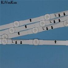 7 lâmpadas led backlight strip para samsung ue32j5500ak ue32j5502ak ue32j5505ak ue32j5550au ue32j5570su kit barras de televisão led banda