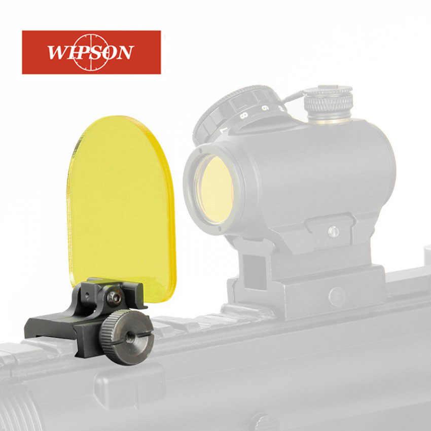 Wipson新エアガンriflescopesレンズプロテクターエアガンレッドドットサイトスコープriflescopetransparent防弾レンズプロテクター