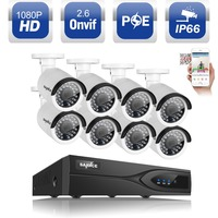 ANNKE 2MP 1080P 8CH PoE NVR Outdoor IP Network Camera CCTV Security System 2TB