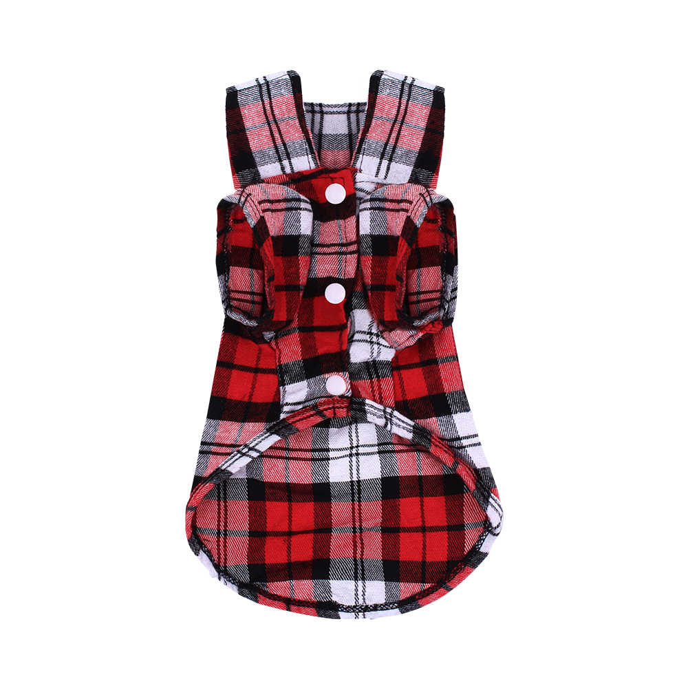 Dog Shirts for French Bulldog Classic Plaid Pet Vest Clothing for Small/Medium/Large Dogs Cats Soft Pet supplies XS/S/M/L/XL