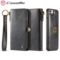 CaseMe Phone Cases For IPhone 7 7 Plus Luxury Retro Multifunction Leather Wallet 2 In 1