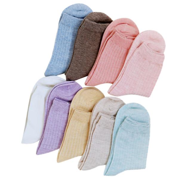 Nueva Llegada 12 UNID Calcetines 2016 Otoño y el Invierno de La Venta Caliente de Moda Único Mujeres Niñas Lindo Sólido de Algodón Calcetines Calientes calcetin