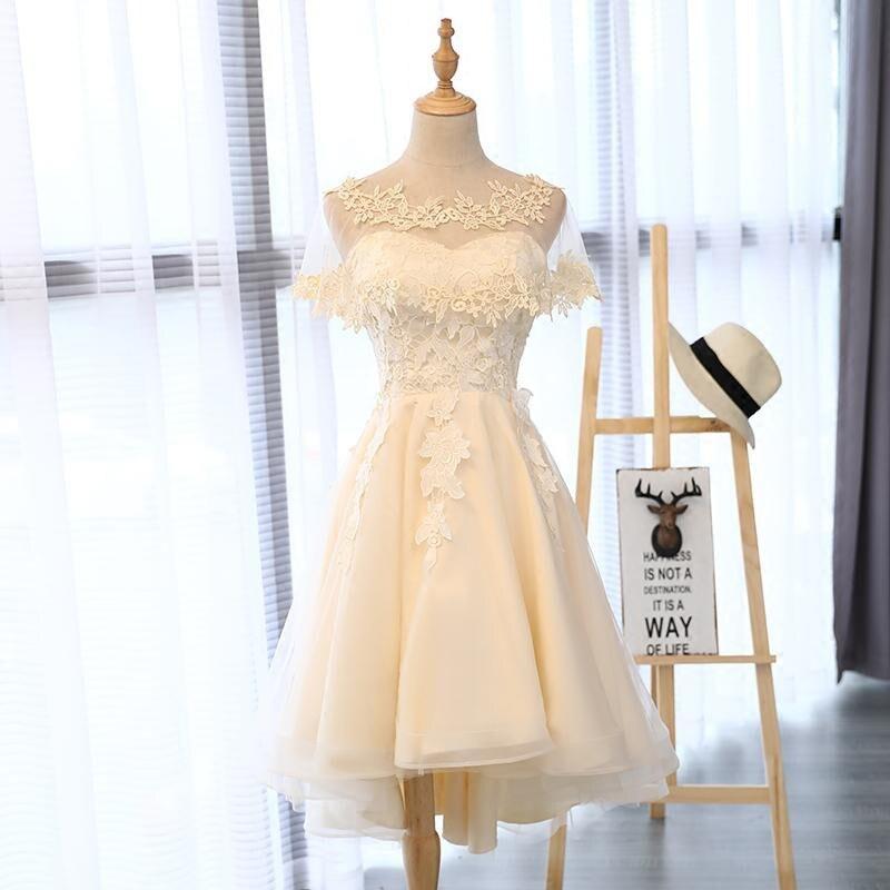 Really Photo In Stock Ärmlös Sweetheart Beige Off Shoulder Vestido - Särskilda tillfällen klänningar - Foto 2