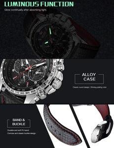 Image 4 - MEGIR zegarek mężczyźni Sport wodoodporny zegar kwarcowy Top marka luksusowy biznes wojskowy męski zegarek Relogio Masculino 1010