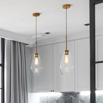 Bar Glass Lighting Kitchen Pendant Light Study Modern Ceiling Lamp Bedroom Contemporary Lights Home Indoor Lights Bulb For Free