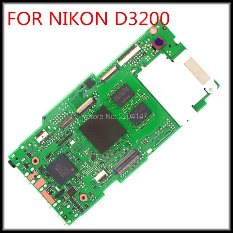 Prix pour 100% D'origine OEM Carte Mère MCU PCB par pour Nikon D3200 Com Firmware pour nikon D3200 carte principale