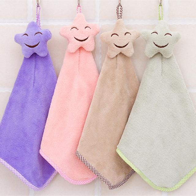 Asciugatura rapida Volto sorridente Appeso Asciugamani Asciugamano Corallo Vellu