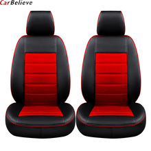 Car Believe car leather seat cover For mitsubishi lancer 9 10 outlander xl pajero 4 asx accessories covers for car seats цена в Москве и Питере