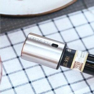 Image 4 - Youpin círculo alegria garrafa de vinho rolha de aço inoxidável com memória de vácuo