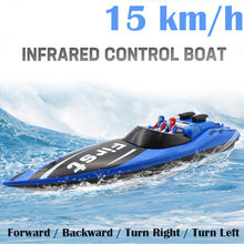 RC Boat 40MHZ Remote Control Wireless 15km/h High Speed RC Electric Boat Children Kids Toys Gifts Radio-controlled Boat(China)