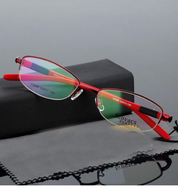 f519a9a0ff0e Women Optical Glasses Fashion Half Frame Design Myopia Eyewear Gafas  Eyeglasses Oculos De Grau Feminino Clear