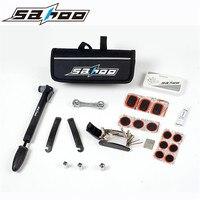 SAHOO Multifunction 16 In 1 Bicycle Tools Multi Tool Sets Road Mountain Bike Tools With Pump Tire Repair Kits Cycling Tools