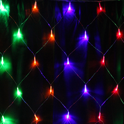 Free shipping led net lights 4m 6m 672leds large outdoor for 160 net christmas decoration lights clear