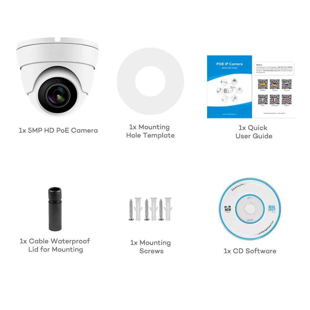 كاميرا Hikvision متوافقة مع كاميرا IP 5MP POE للأماكن الخارجية/الداخلية 2592x1944 قبة كاميرا مراقبة فيديو سمعية CCT