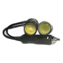 12 В 120 Вт 5 в а двойное USB Автомобильное зарядное устройство и светодиодный светильник двойная мощность двойная розетка для автомобильного прикуривателя вилка адаптер зарядное устройство разветвитель