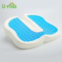 U Miss Car Office Business Seat Pad Memory Foam Cushions Office Anti Hemorrhoids Slow Rebound Cushion