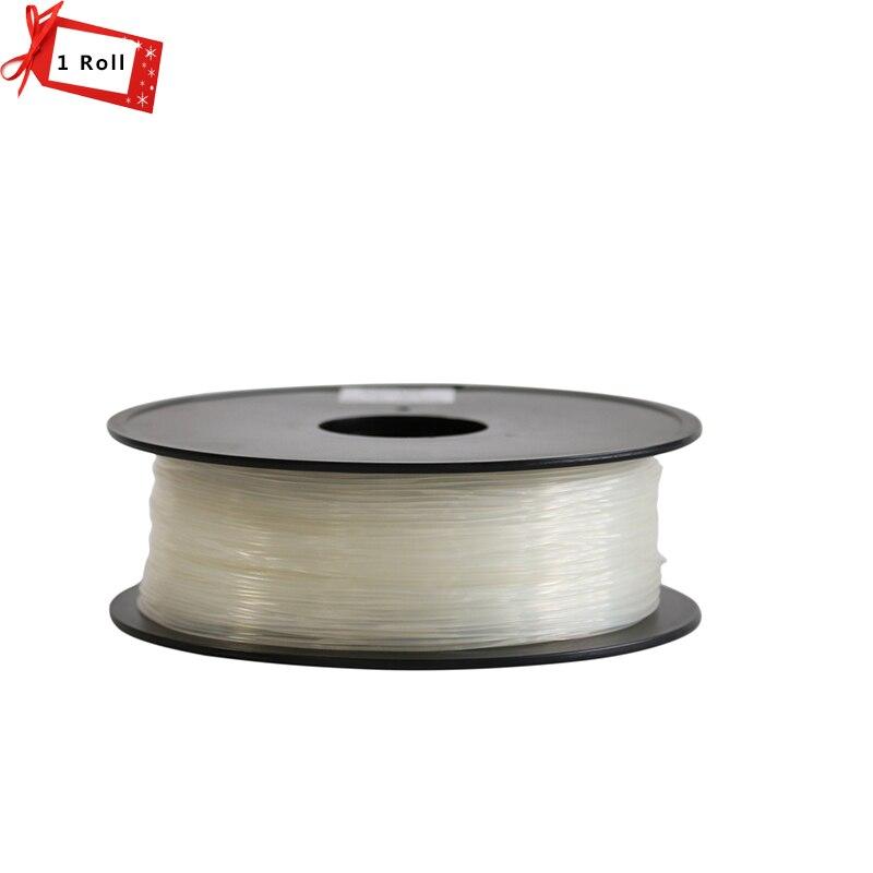 1KG/Roll Transparent Color 3D Printer Filament 1.75 mm PLA/ABS/TPU Materials option for 3D printer and 3D pen