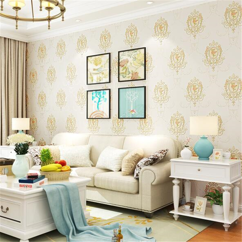 beibehang Continental pastoral non-woven wallpaper American country wallpaper living room bedroom bamboo fiber green wallpaper beibehang blue wallpaper non woven