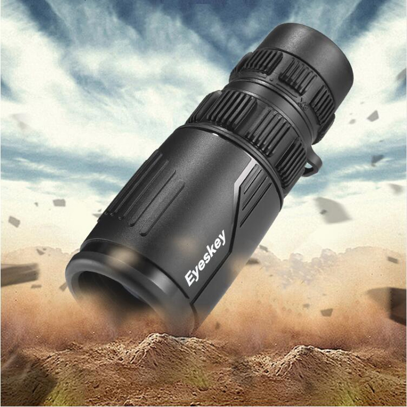 Eyeskey Zoom 8 24x42 Compact and Portable Monocular Telescope Waterproof Bak4 Prism Telescope Monoculars for Camping