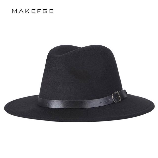 Chapeu sombrero Fedora femenino de Chapeu de diseño de feutre para Laday  ala ancha Sombreros Jazz eed5557d96c