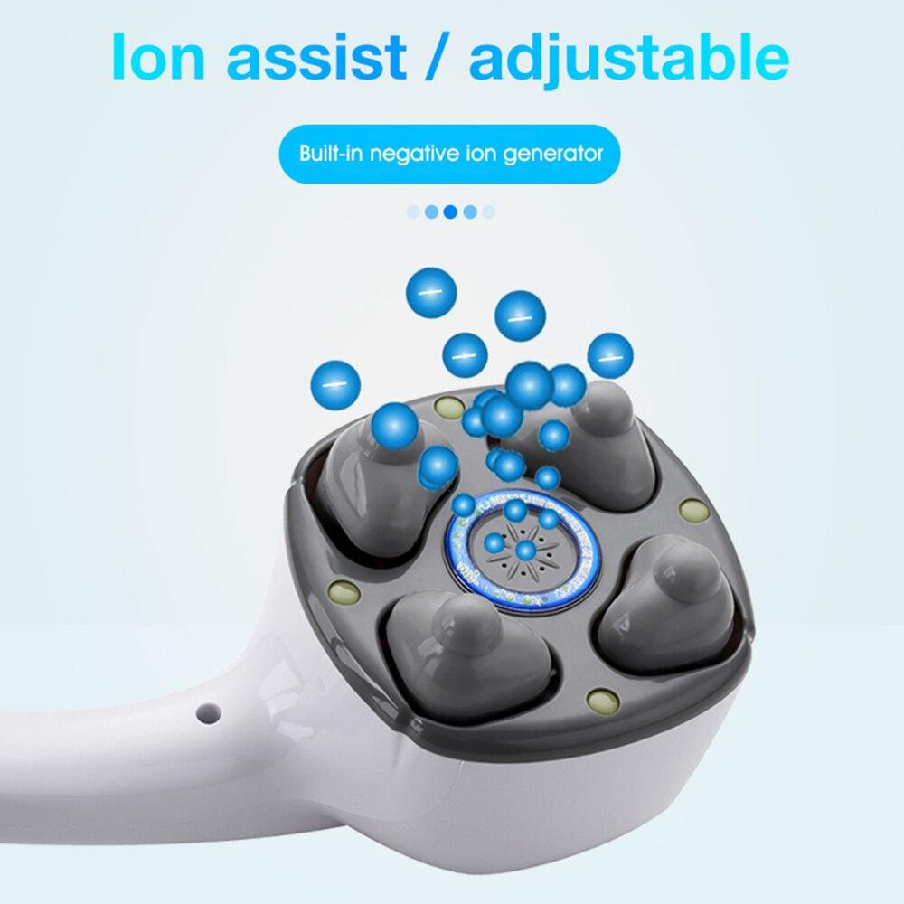 Electric Handheld Massager Four Head Machine Full Body Neck Vertebra Back Muscle Relax Vibrating Deep Tissue