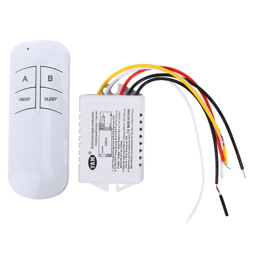 Wireless ON/OFF 1 Ways 220V Lamp Remote Control Switch Receiver Transmitter Switch-Y122 for exhaust fan/LED light 220v 1 2 3 4 ways wireless on off lamp remote control switch receiver transmitter w310